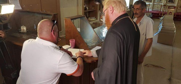 По благословению митрополита Агафангела более 170 человек получили гуманитарную помощь в Координационном социально-гуманитарном центре Одесской епархии