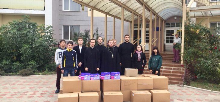 Молодежный актив социального отдела Одесской епархии совместно со студентами Одессой духовной семинарии посетил Гериатрический дом-интернат для престарелых