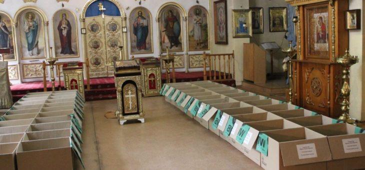 По благословению митрополита Агафангела 200 нуждающихся получили продуктовые наборы и материальную помощь (Видео)