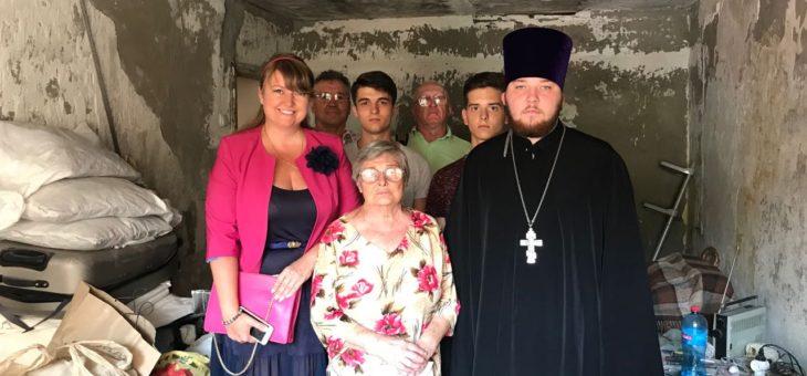 Сотрудники социального отдела Одесской епархии совместно с представителями Одесского областного совета мира оказали адресную помощь семьям одесситов