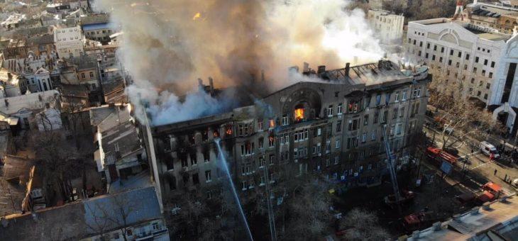 Одесская епархия призывает молиться о пострадавших на пожаре в Одессе
